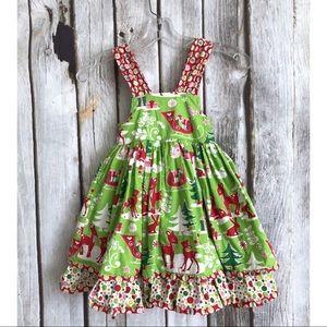 Jelly The Pug Holiday Sassy Ruffle Christmas Dress